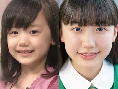 芦田愛菜 幼少期 中学生 比較