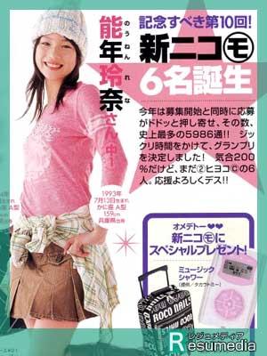 のん(能年玲奈) 雑誌 ニコラ モデル