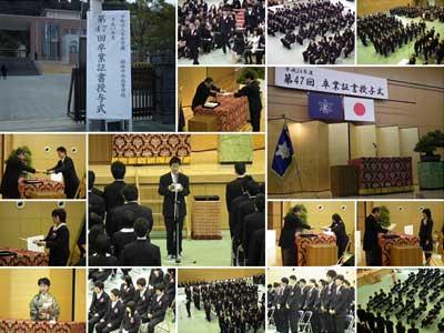 向井康二 高校 卒業式