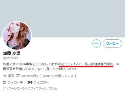 加藤紗里 旧ツイッター