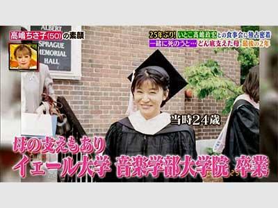 高嶋ちさ子 大学院時代