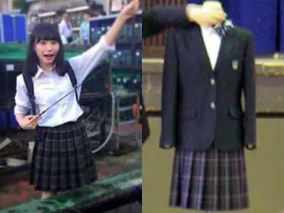 南沙良 麻生中学校制服参考画像