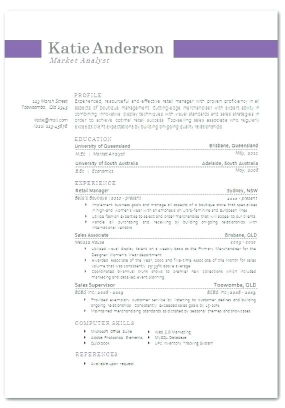 Resume Examples Queensland Resume Examples