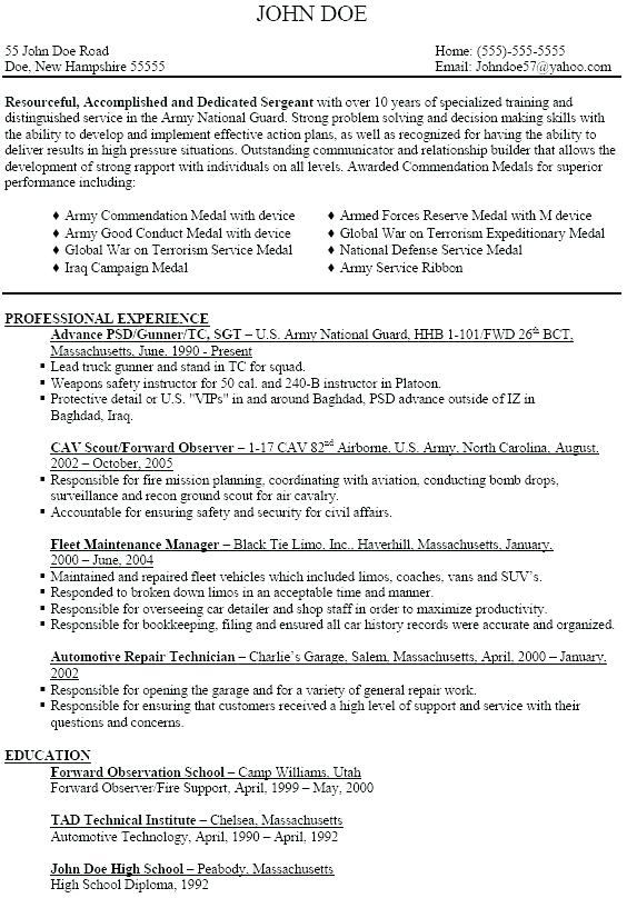 42a Resume Examples Resume Examples