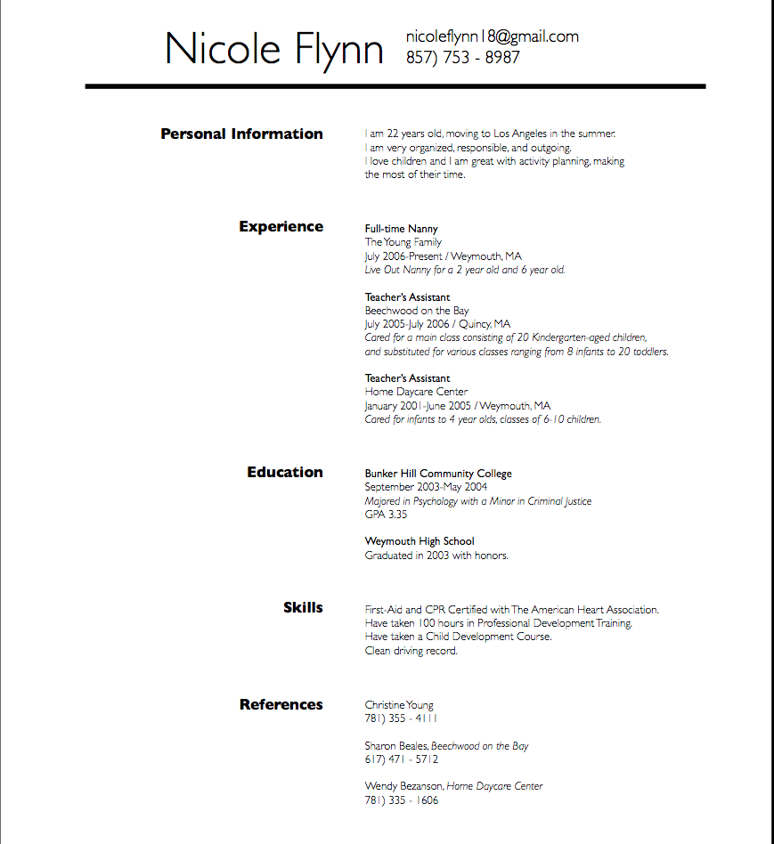 Resume Examples For 14 Year Olds Resume Examples