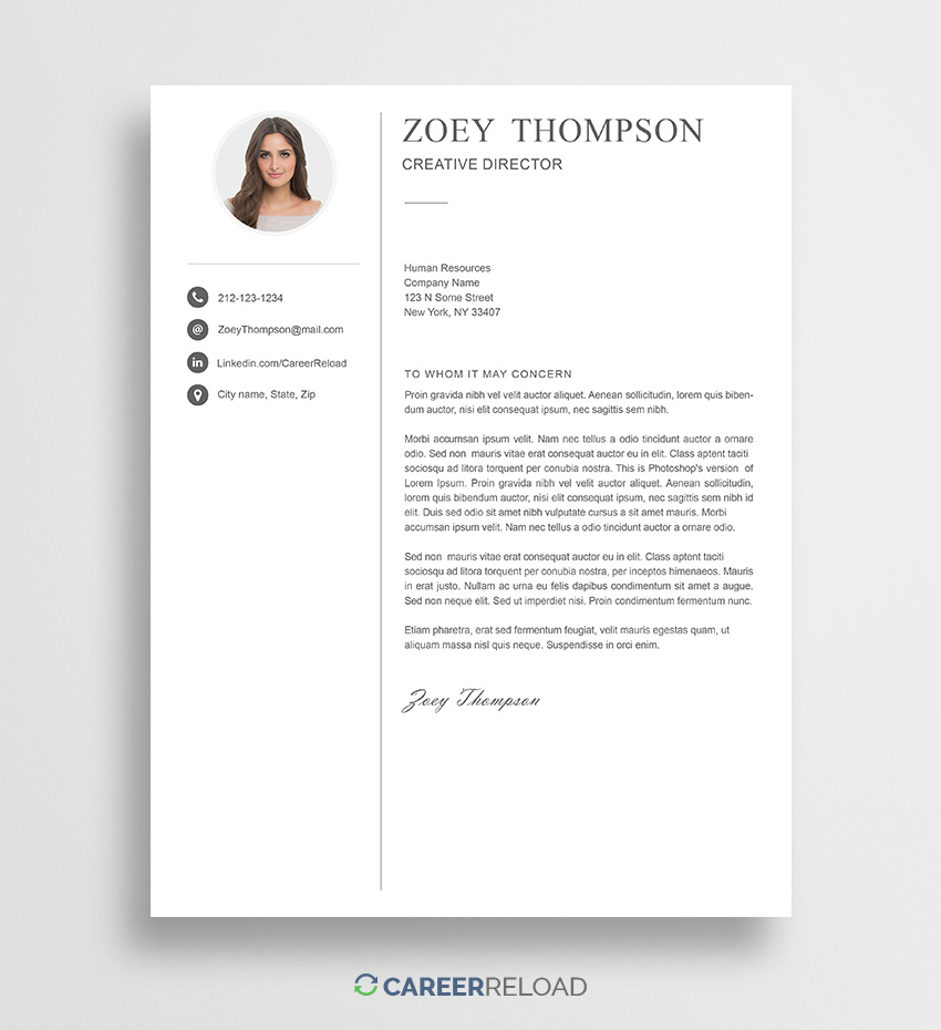 Cover Letter Template Design Free  Resume Format