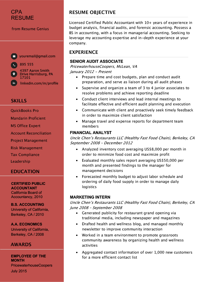 resume guidelines pdf