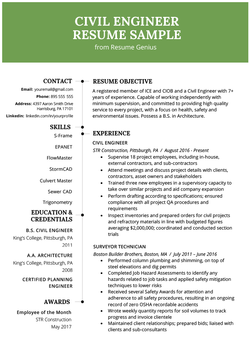 resume objective examples it professional
