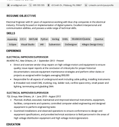 electrical engineer resume example template [ 800 x 1132 Pixel ]