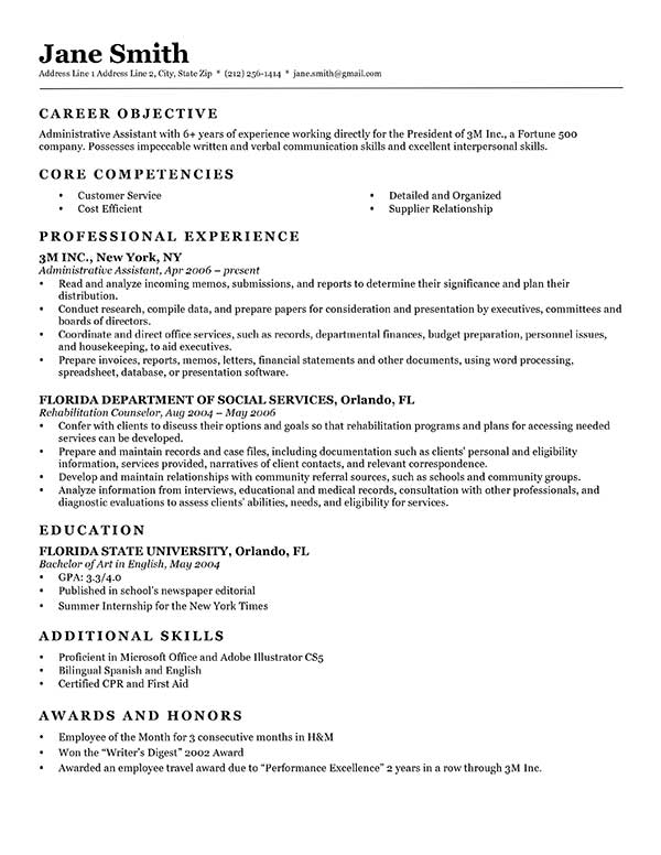 Formal Resume Template Advanced Resume Templates Resume Genius