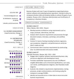 business analyst resume [ 800 x 1132 Pixel ]