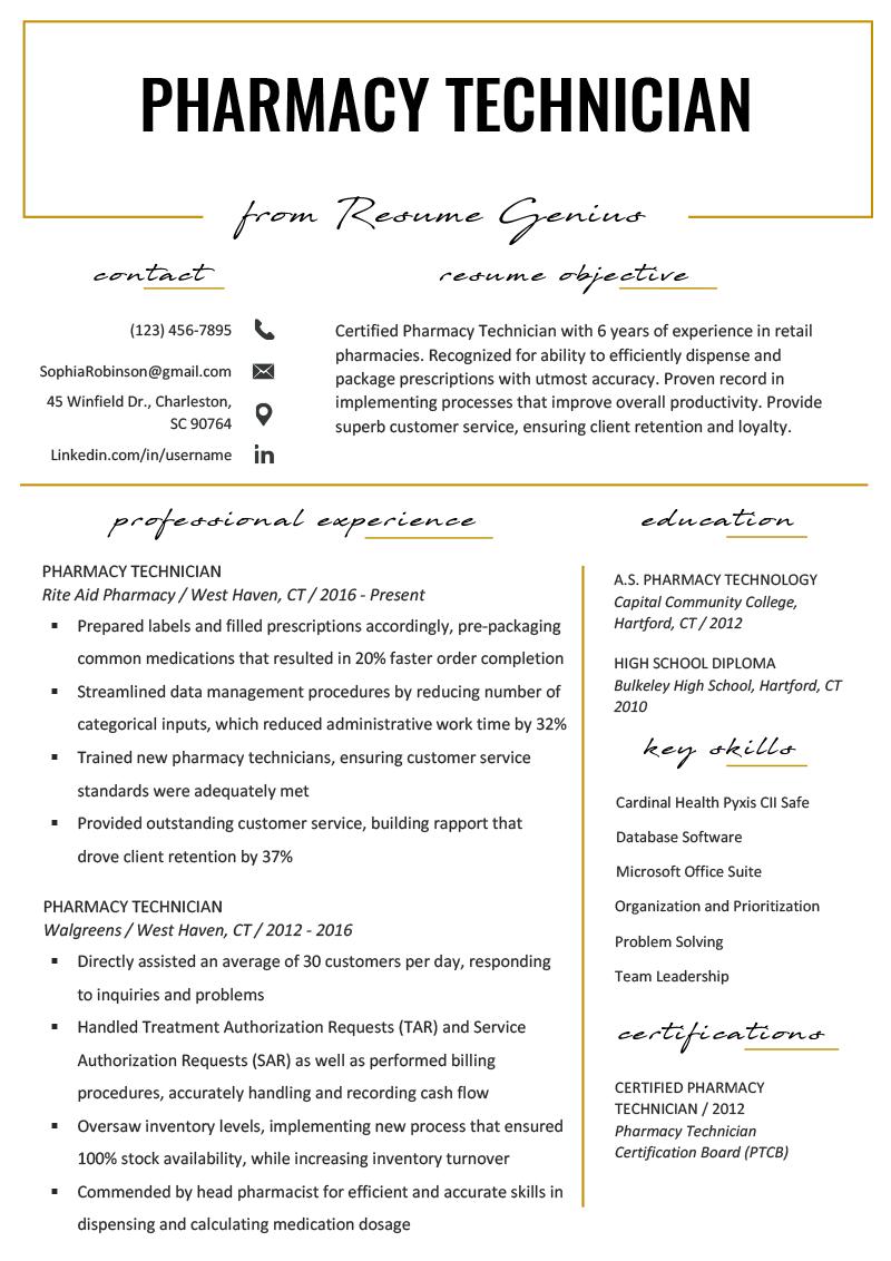accounting technician resume sample