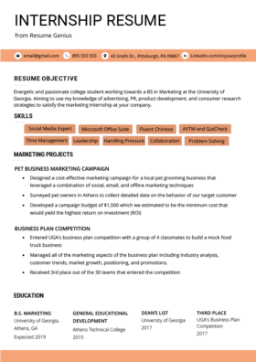 College Student Resume Sample Writing