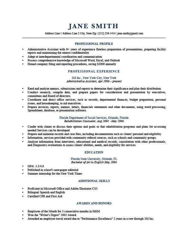 resume like sentence