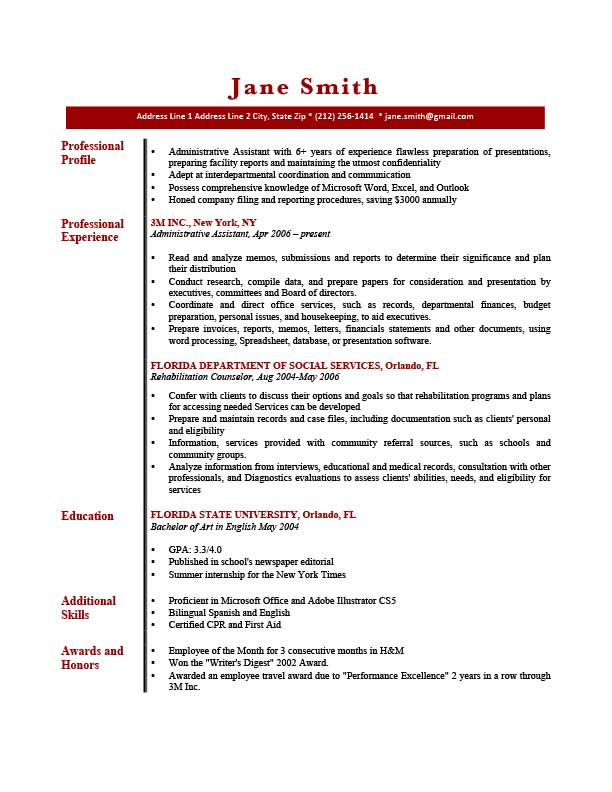 brief unique resume templates profile picture