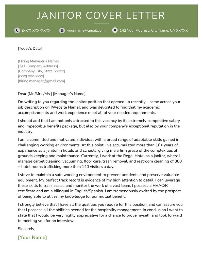resume cover letter example for mechanic