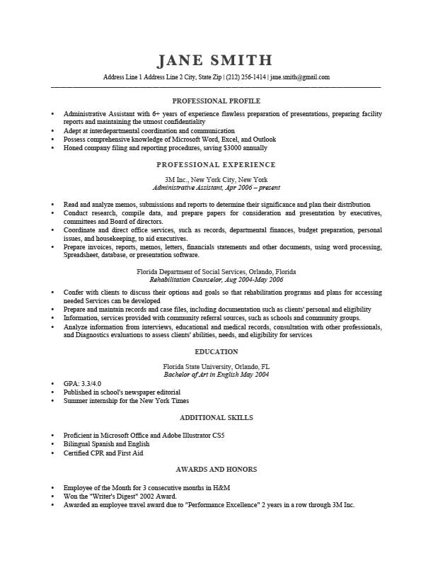 how do you start a resume example