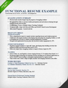 functional resume format examples - Combination Resume Examples