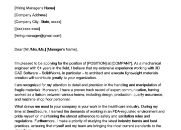 Utility Manager Cover Letter