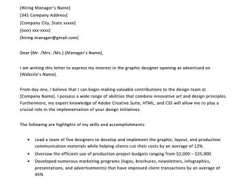 Digital Media Designer Cover Letter | 25 Beautiful Free Resume ...