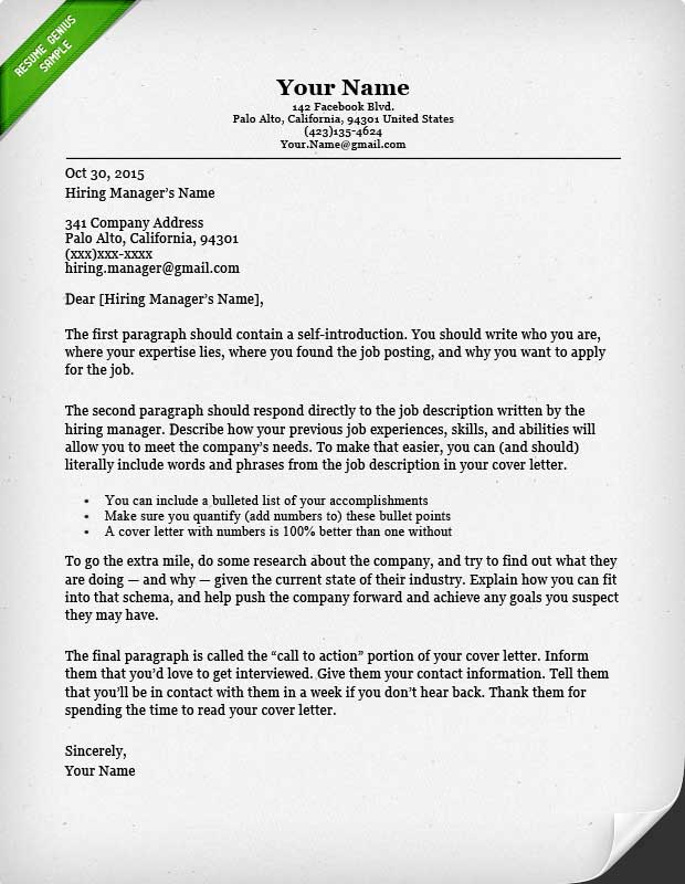 40 BattleTested Cover Letter Templates for MS Word  Resume Genius