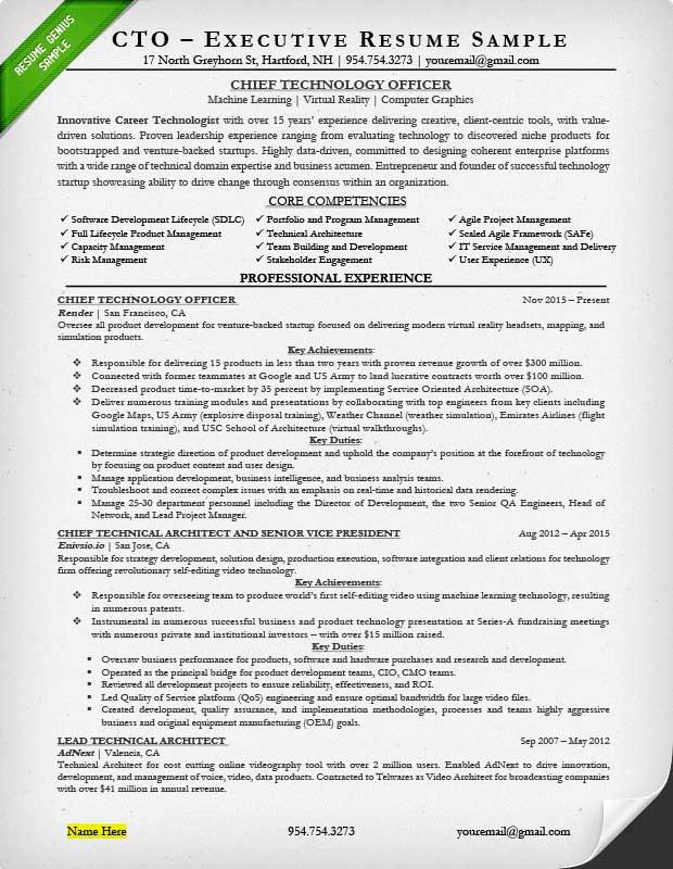 proven executive resume templates