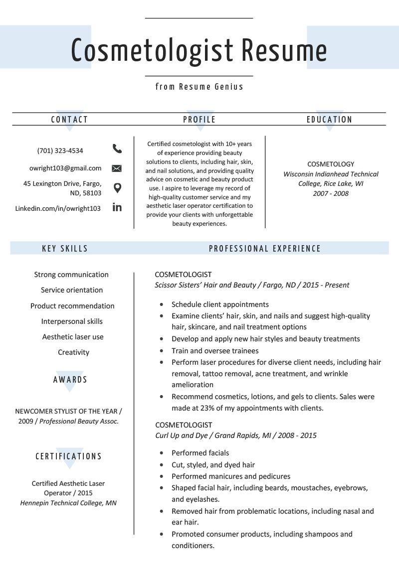 Chronological Resume Samples & Writing Guide RG