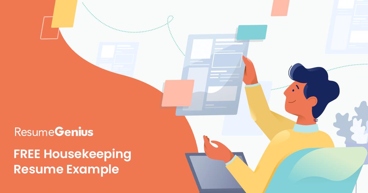 Housekeeping Resume Example  Writing Tips  Resume Genius