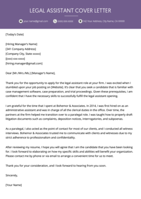 Litigation Assistant Cover Letter