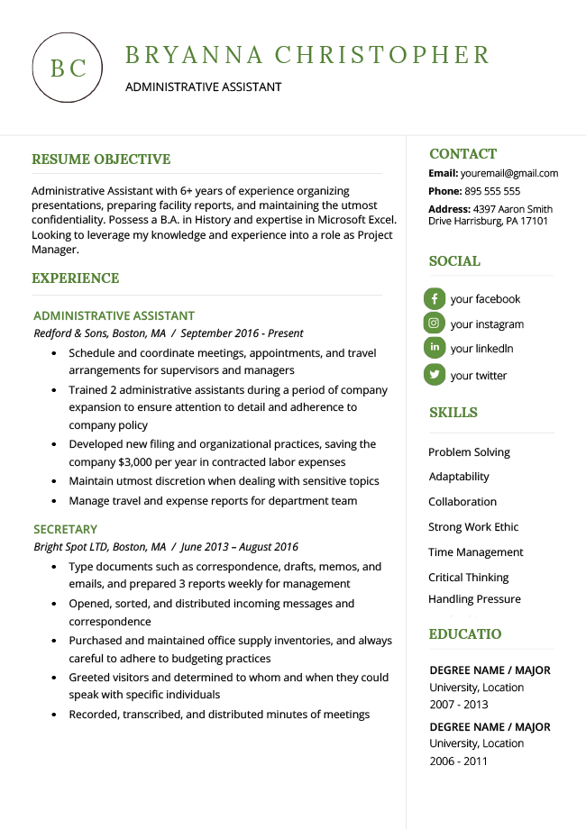 sample resume for applying to masters degree