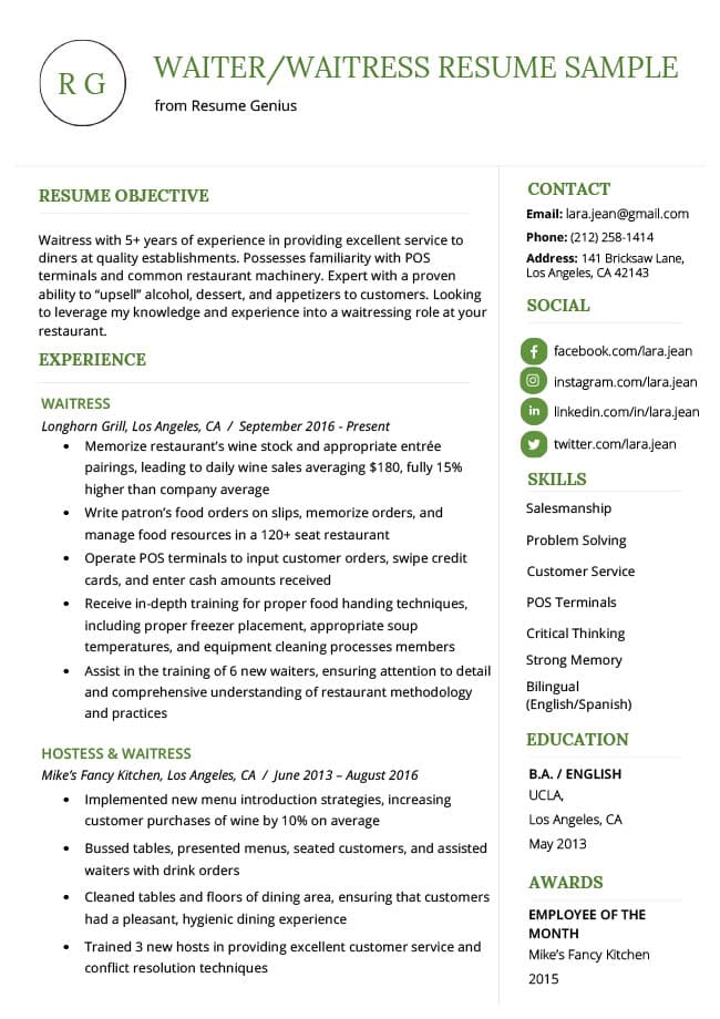 How To Write A Resume Profile Examples & Writing Guide RG