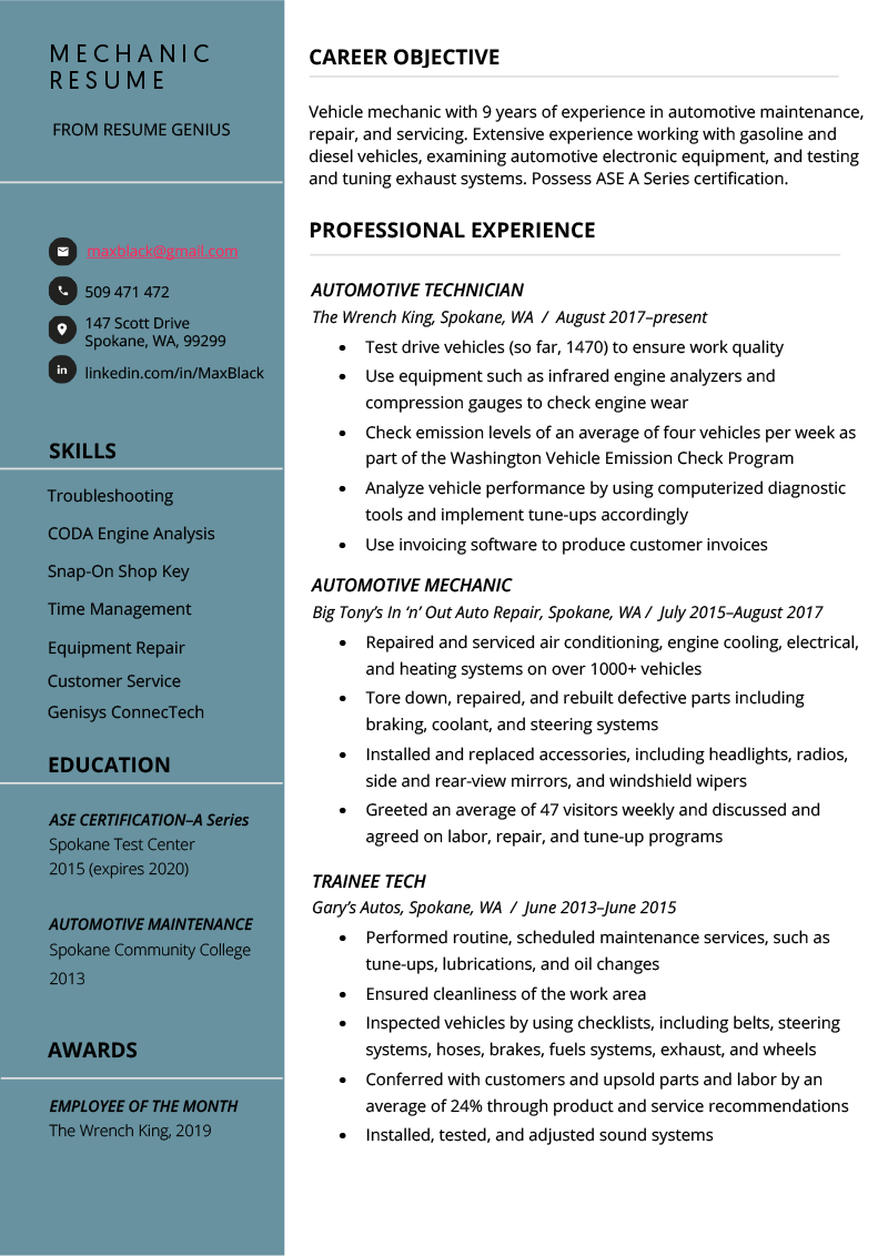 objective resume objective examples