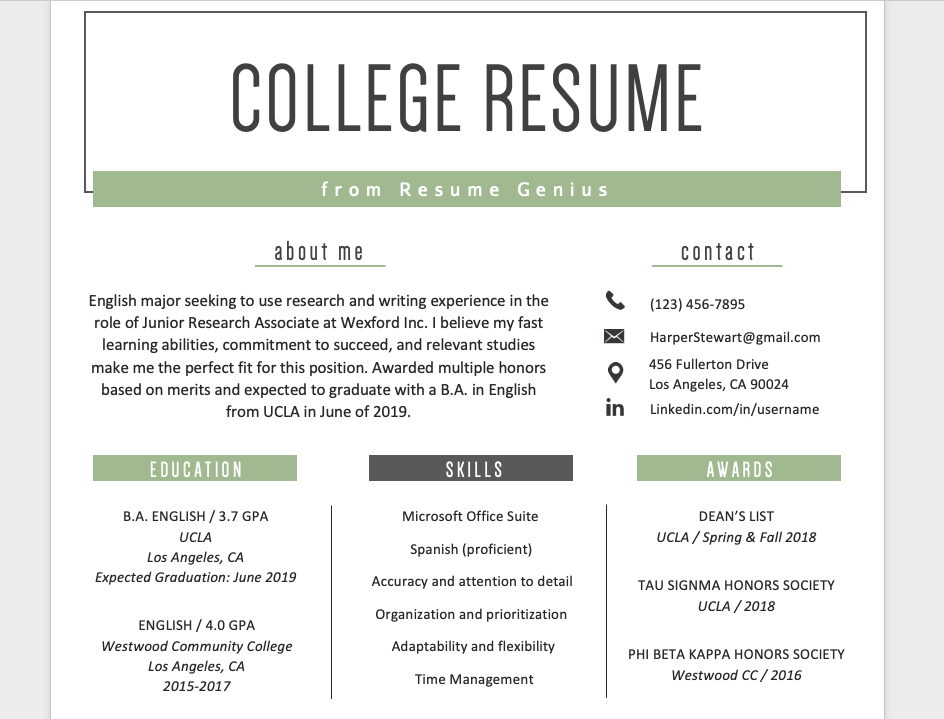 how to list education on your resume example