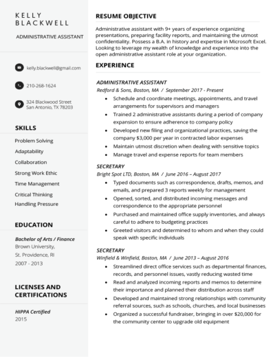 Curriculum vitae (cv) for job application in few minutes. Free Resume Builder Create A Professional Resume Fast
