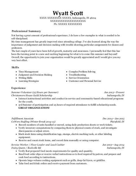 Amazon Fulfillment Center Fulfillment Associate Resume Sample  Sparrows Point Maryland  ResumeHelp