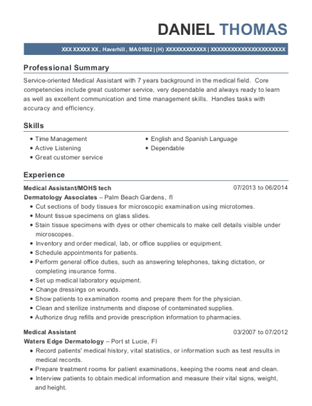 Best Mohs Tech Resumes | ResumeHelp