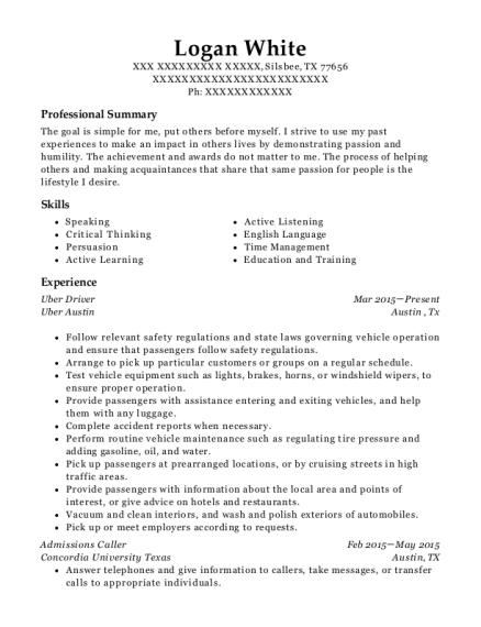 job experience resumes