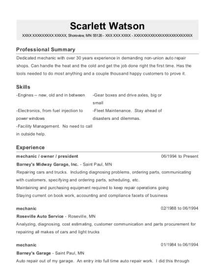 Best Automotive Machinist Resumes | ResumeHelp