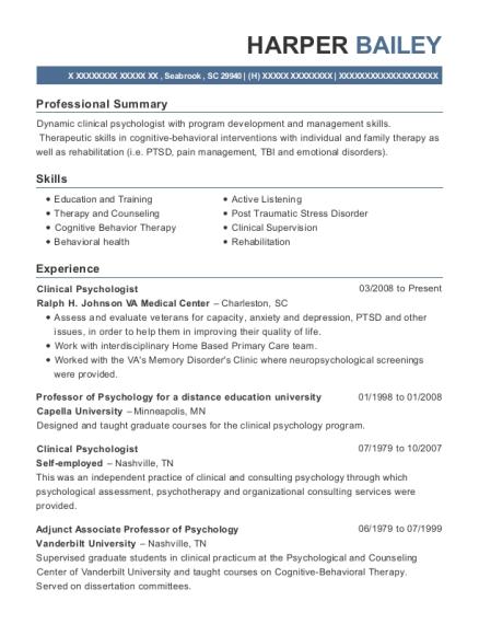 Best Staff Psychologist Resumes   ResumeHelp