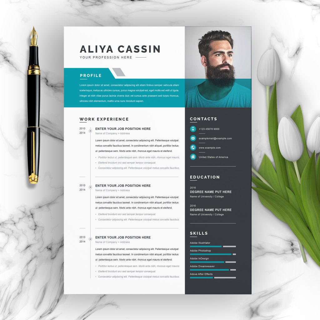 free clean resume templates healhcare professional word