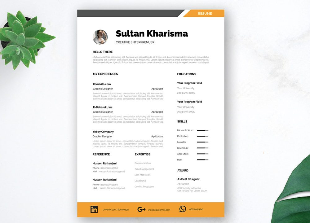 Resumes are an important tool in any job search, and they can make or break you as a candidate. Professional Free Resume Template For Dream Job Resumekraft