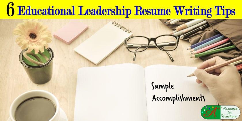 sample resume for educational leadership position