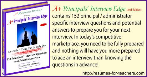 A+ Principals' Interview Edge - Second Edition