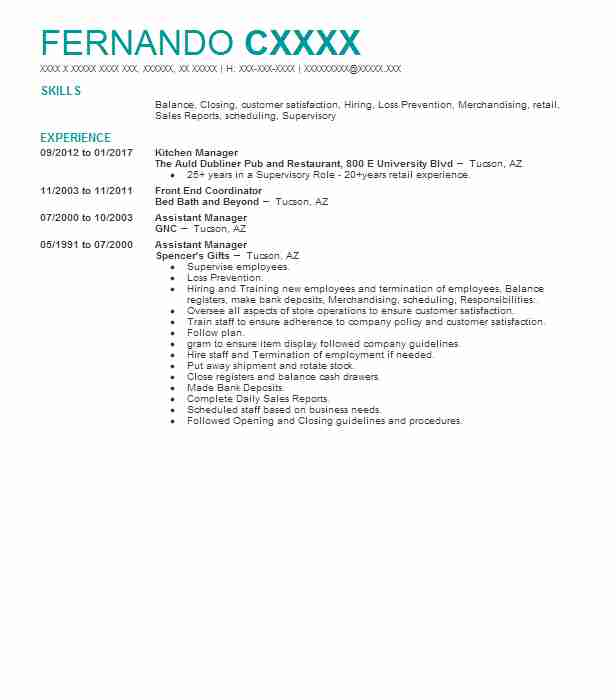 Sales AssociateCashier Resume Example Petsmart