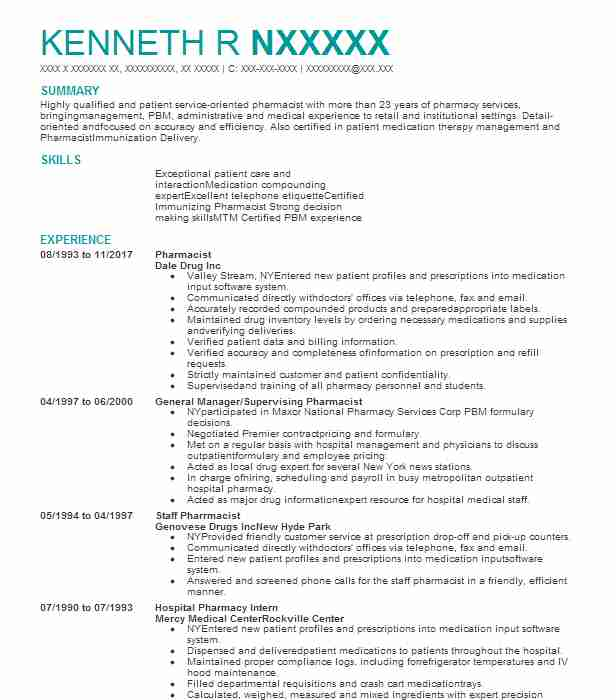 good resume for receptionist