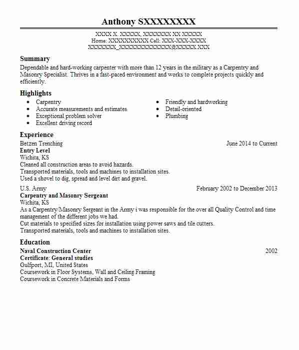 healthcare resume examples entry level