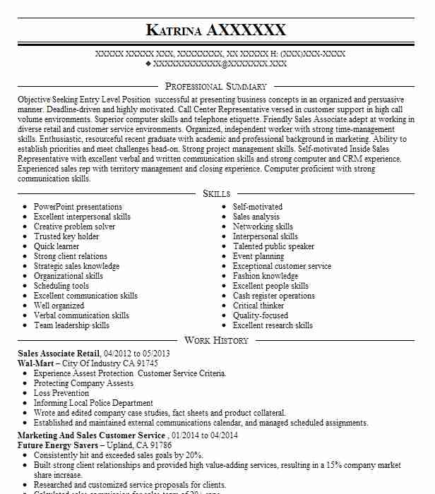 examples of successful sales resumes