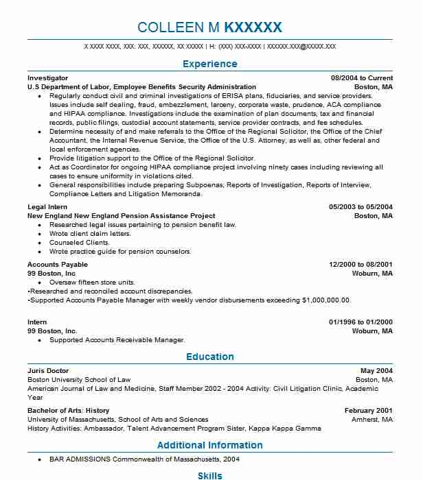 Background Investigator Cover Letter - Cover Letter Resume ...