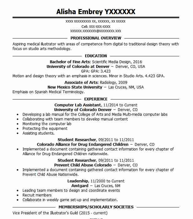 Computer Lab Assistant Resume Sample  Assistant Resumes