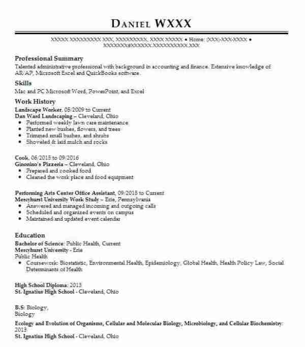 25 Landscaping Worker Resume Experience Example Pictures And Ideas